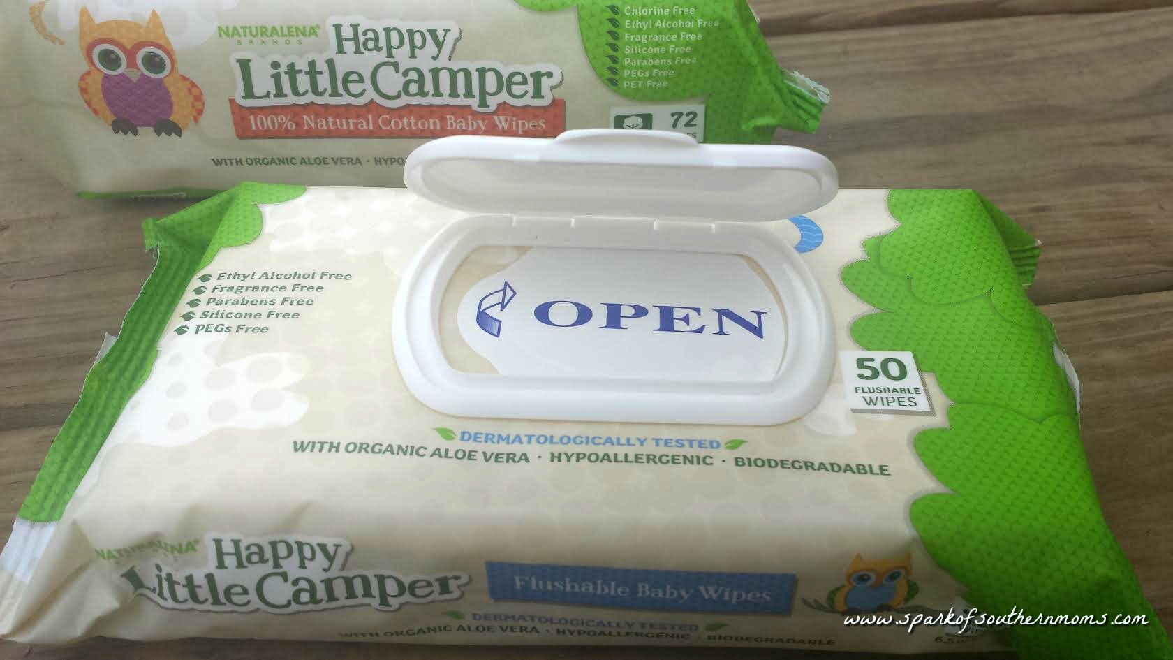 Make Babies Happy With Happy Little Camper Wipes - Spark of